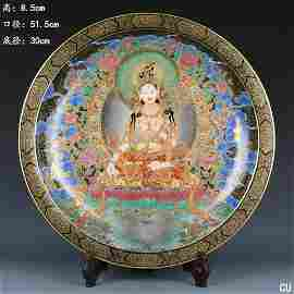 Super Luxury Thangka Large Porcelain Plate