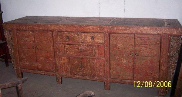 8: Large Antique Mongolian Cabinet