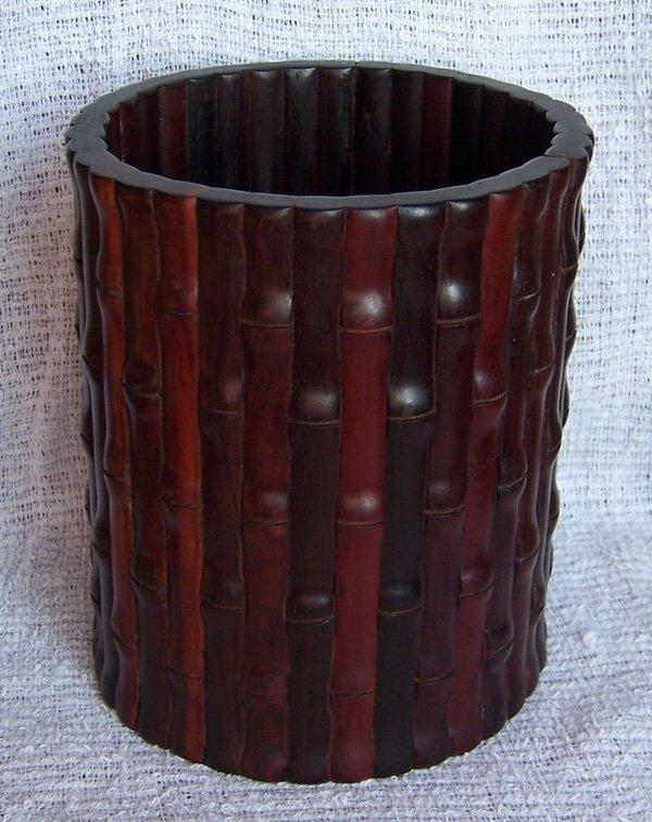 10: Indian Xianye Zitan Brush Pot