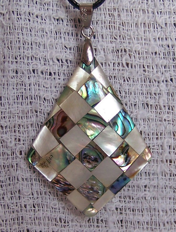 17: mother-of-pearl inlay Pandent