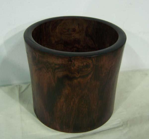 658: Antique Huanhuali Brush Pot