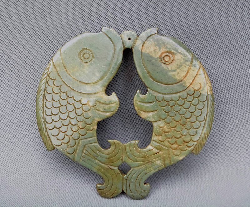 A Jade Stone Double Fishes