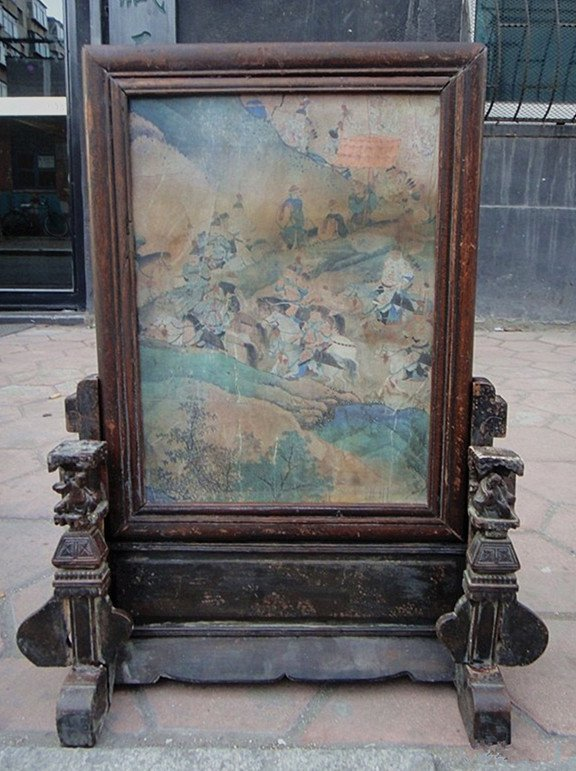 A Nice Antique Nanmu Table Screen
