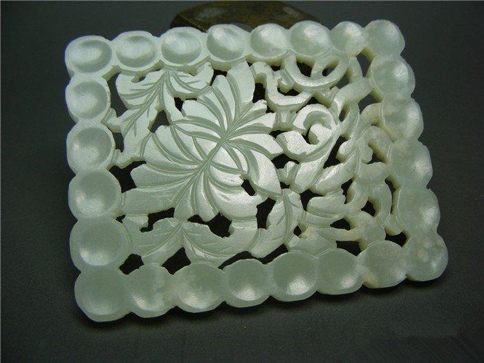 A Big Nice Ming Dynasty White Jade Pendant