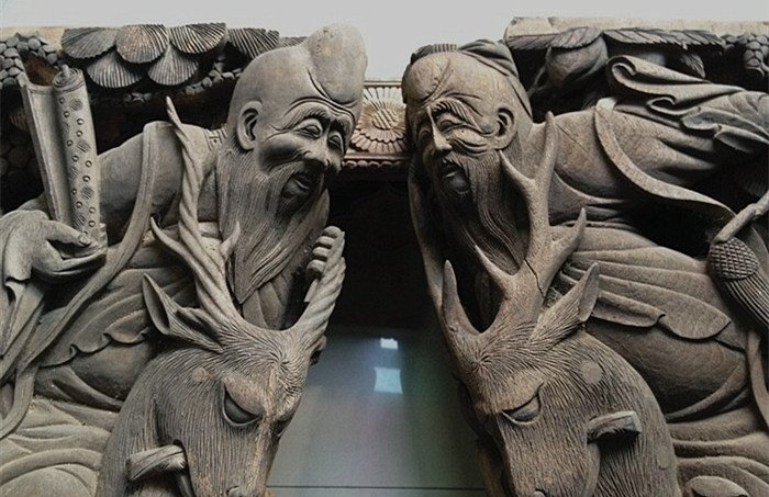 Two Pairs Marvelous Antique building Carvings