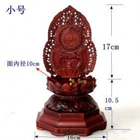 A Nice Red Wood Buddha Seat