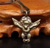 A Nice Old Tibetan Tuojia Gold-wing Bird