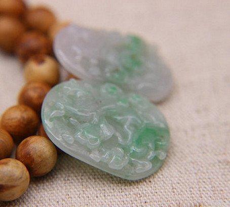 Two Nice Qing Dynasty Nature Jadeite Pendants - 4