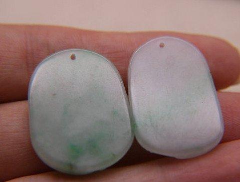 Two Nice Qing Dynasty Nature Jadeite Pendants - 5