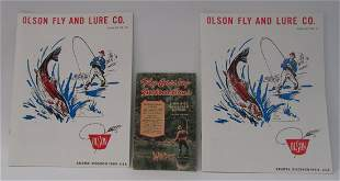 1947 Fly Casting Booklet and Olsen Fly Catalogs