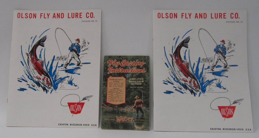 5: 1947 Fly Casting Booklet and Olsen Fly Catalogs