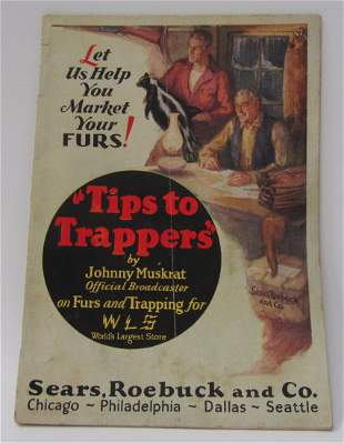 1928 Tips To Trappers by Johnny Muskrat