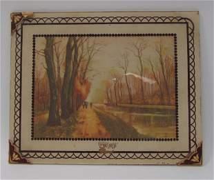 Vintage Glass Picture Frame
