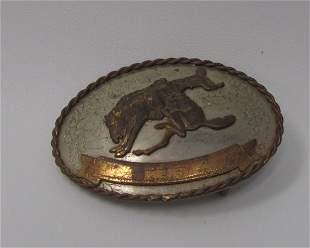 German Silver Western Belt Buckle