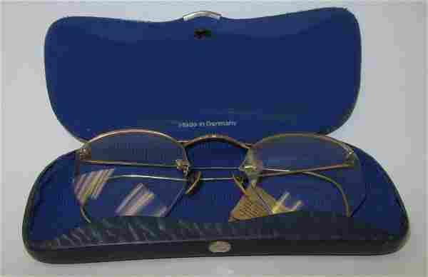Antique Optal 12K Gold Filled Spectacles & Case