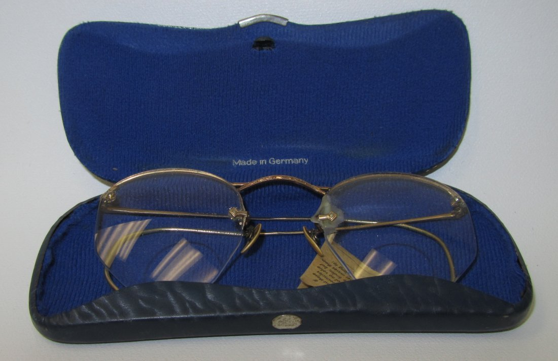 19: Antique Optal 12K Gold Filled Spectacles & Case