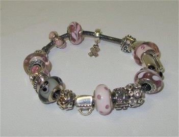 24: Pandora Sterling Silver Best Friends Bracelet