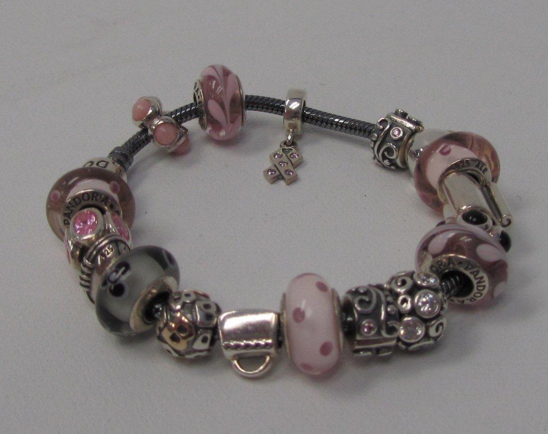 24: Pandora Sterling Silver Best Friends Bracelet - 2