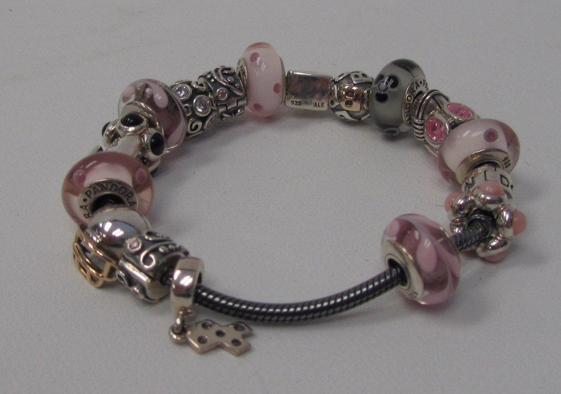 24: Pandora Sterling Silver Best Friends Bracelet - 3