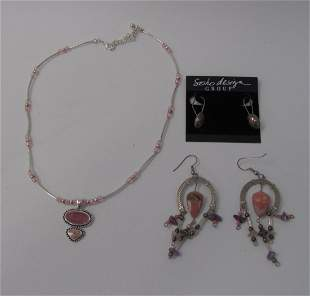 Lot of Costume Jewelry, Necklace and Earrings