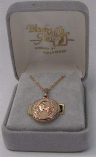 Black Hills Gold Locket With Gold Filled Chain