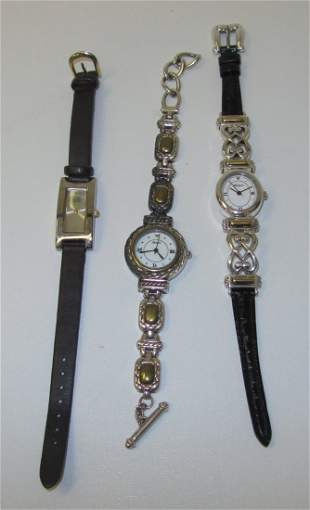 Lot of 3 Ladies Wrist Watches