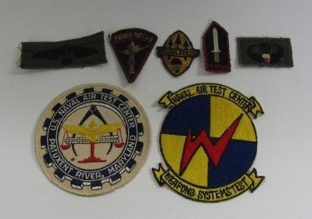 Lot of 7 Misc. Military Patches, Inc Special Forces