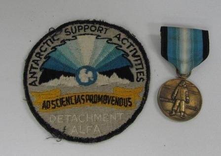Antarctic Support Activities Patch and Medal