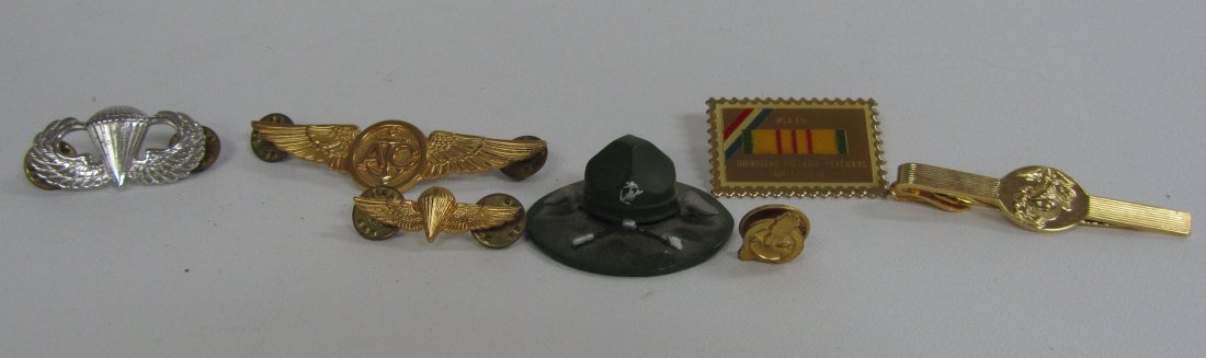 Lot of Miscellaneous Military Pins and Clips