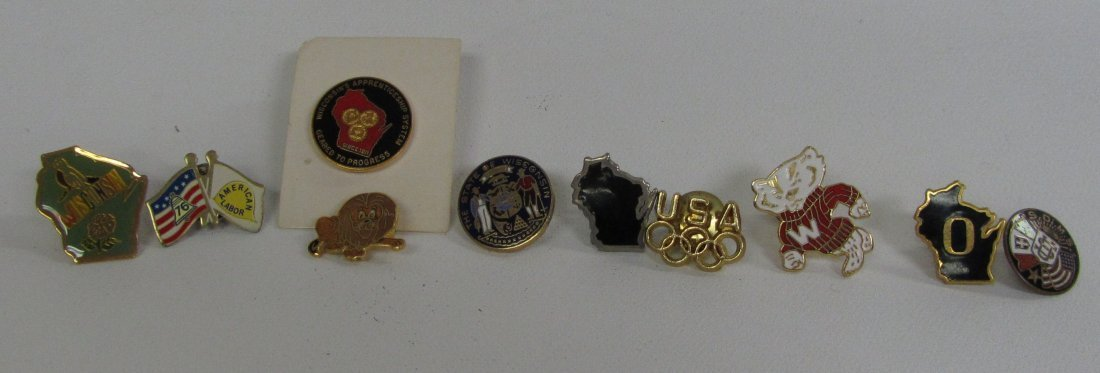 Lot of Misc. Wisconsin and Other Pins