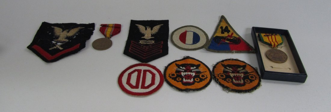 Vintage Military Patches and Viet Nam Medal