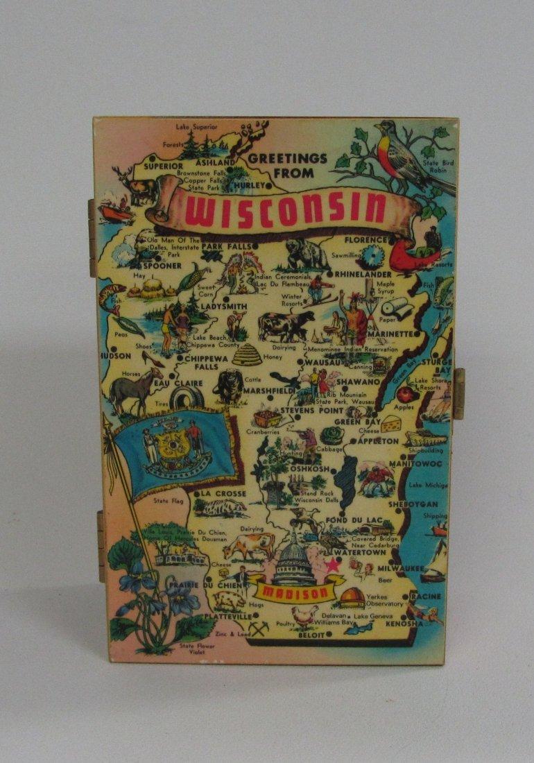 Wisconsin Tourist Cedar Keepsake Box