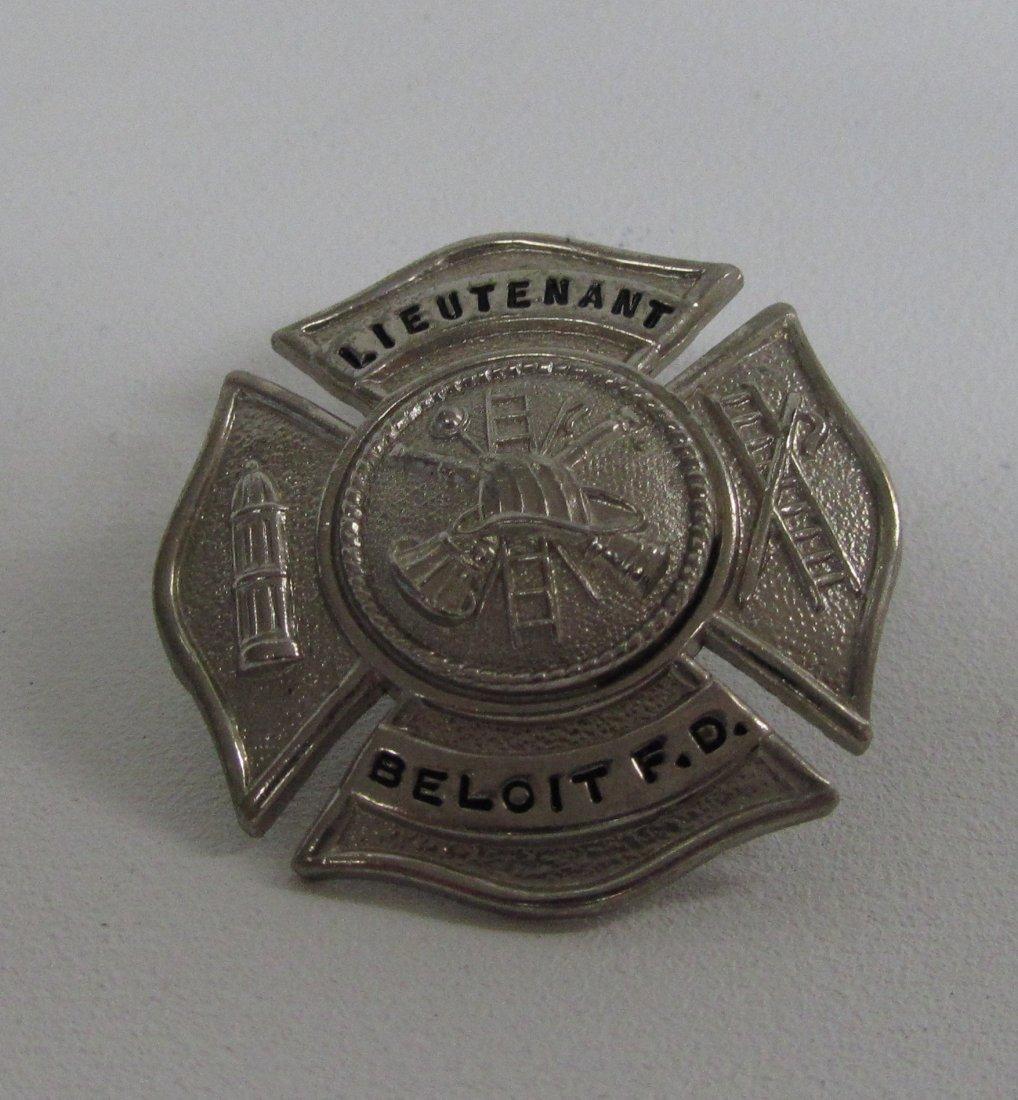 Old Lieutenant Badge From Beloit WI Fire Dept.