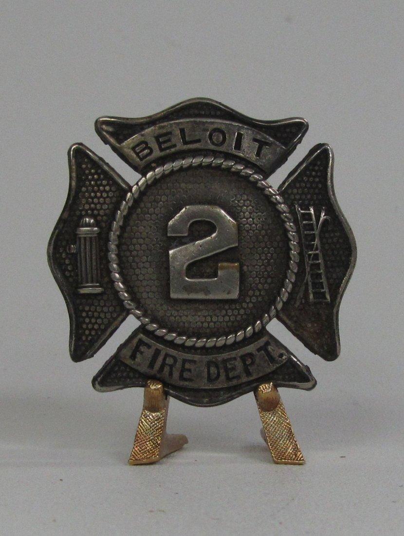 Vintage Beloit WI Station 2 Fire Dept. Badge