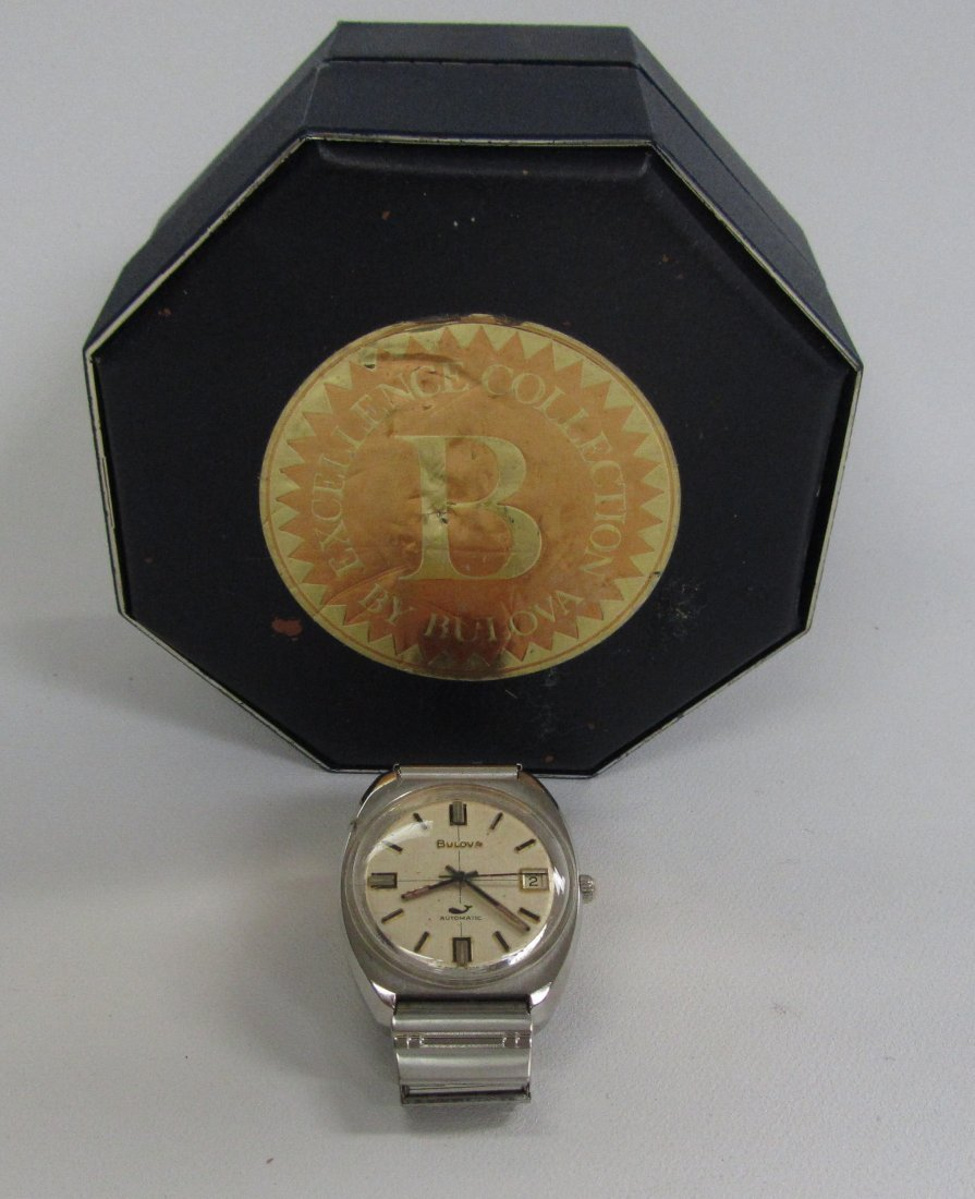 Vintage Bulova Men's Watch With Original Box