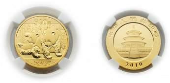 China 2010, Panda 500yuan (1oz) gold coin