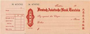 China 1920 cheque