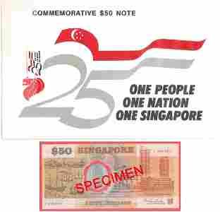 Singapore 1989 $50 polymer