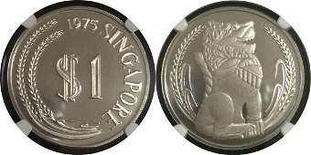 Singapore 1975-1984 $1 silver coin set