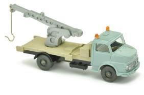 Kranwagen MB 1413, tuerkis (Kran silbern)