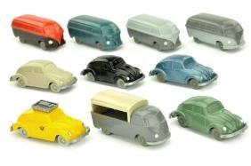 Konvolut 10 unverglaste VW-Modelle