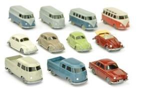 Konvolut 11 Volkswagen-PKW der 60er Jahre