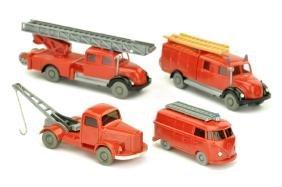 Konvolut 4 Feuerwehren der 60er Jahre