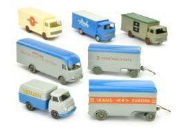 Konvolut 5+2 Koffer-LKW der 60er/70er Jahre