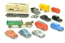 Konvolut 11 unverglaste Modelle