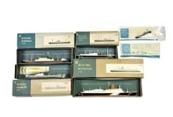 Konvolut 6 Schiffe um 1960 im Ork