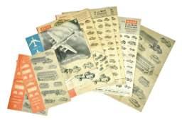 Konvolut 11 Preislisten 1959 bis 1968
