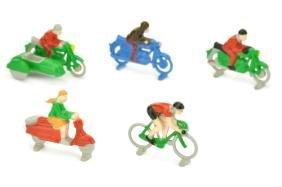 Lego - Konvolut 5 Zweiradfahrer