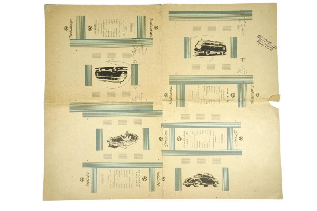 Andruckmuster Originalkartons (um 1957)