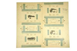 Andruckmuster Originalkartons um 1957